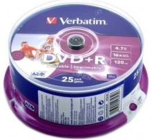 DVD+R Printable Verbatim AZO 4,7GB (25)
