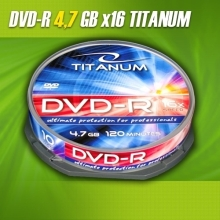 DVD-R Titanum 4,7GB (Cake Box 10 szt.)